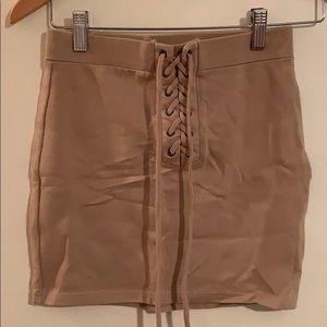 Forever 21 Beige Mini Skirt